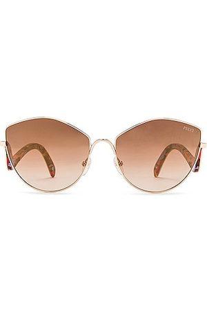 Emilio Pucci Metal Sunglasses in