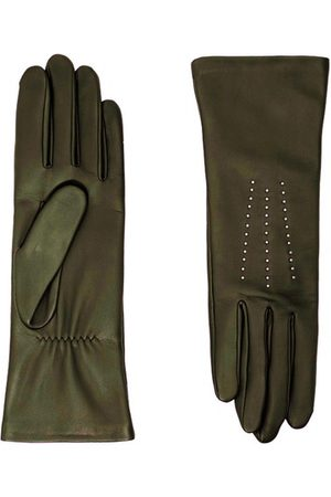 AGNELLE Women Gloves - Grace stud tactile silk lining