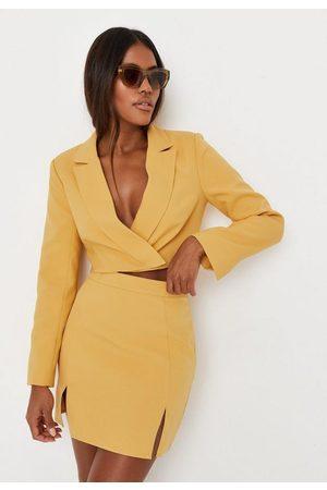 Missguided Women Party Dresses - Tailored Double Split Mini Skirt