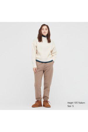 UNIQLO Women's HEATTECH Pile-Lined Sweatpants, , XXS