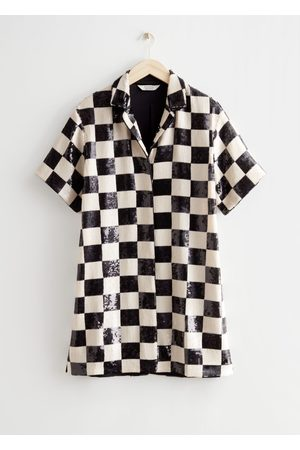 & OTHER STORIES Women Party Dresses - Checkered Sequin Mini Dress