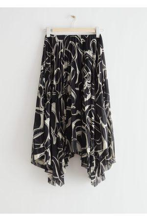 & OTHER STORIES Pleated Asymmetric Midi Skirt