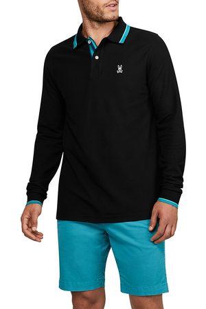 Bunny Orton Pima Cotton Tipped Regular Fit Long Sleeve Polo Shirt