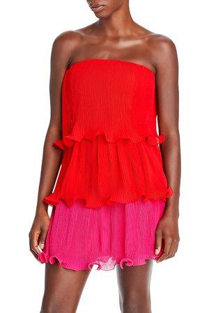 Milly Sylvie Pleated Mini Dress