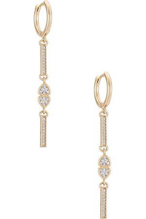 Lili Claspe Women Earrings - Veda Drop Earrings in Metallic Gold.