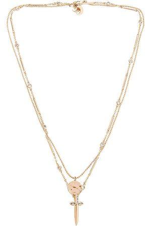 Lili Claspe Rays Dagger Necklace Set in Metallic .