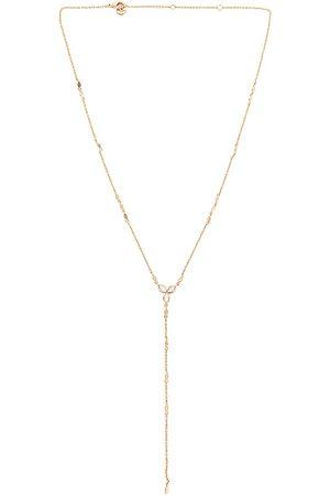 Lili Claspe Women Necklaces - Flora Lariat Necklace in Metallic Gold.