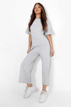 Boohoo Womens Short Sleeve Smock Jumpsuit - - 4