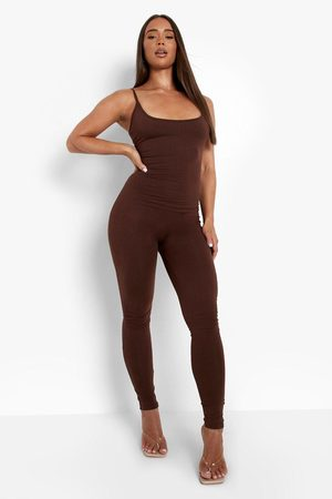 Boohoo Womens Strappy Plunge Jumpsuit - - 2