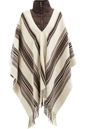 Chloé Quilted-collar Striped Cashmere-blend Rep Poncho - Womens - Multi