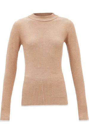Falke High-neck Patch-pocket Wool-blend Sweater - Womens - Camel