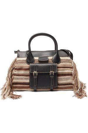 Chloé Women Purses - Edith Leather-trim Striped Cashmere Handbag - Womens
