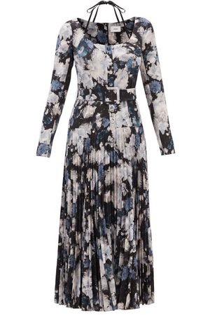 Erdem Women Printed Dresses - Myla Giselle Belted Floral-print Crepe Dress - Womens