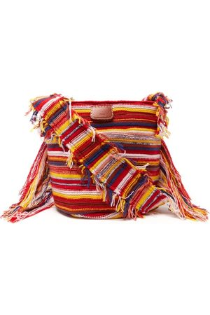Chloé Women Purses - Jorge Small Striped Recycled-cashmere Bucket Bag - Womens - Multi