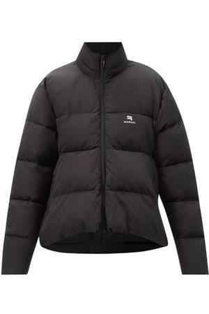 Balenciaga Women Jackets - Curved-hem Quilted-shell Jacket - Womens