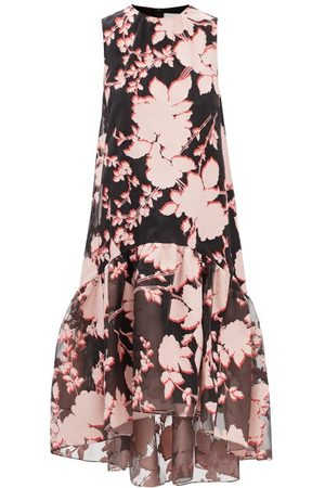 Erdem Winsloe Tiered Floral-devoré Organza Dress - Womens