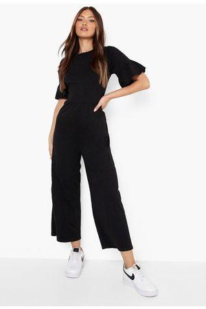 Boohoo Women Jumpsuits - Womens Short Sleeve Smock Jumpsuit - - 4