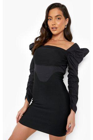 Boohoo Women Bodycon Dresses - Womens Premium Bandage Corset Style Bodycon Dress - - 4