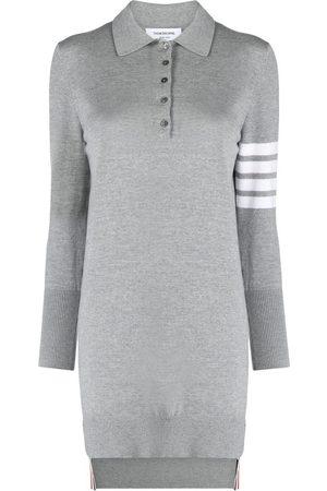 Thom Browne 4-Bar stripe polo dress - Grey