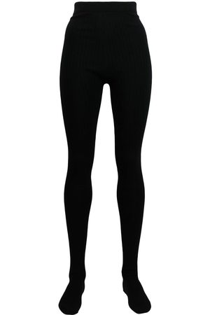 Thom Browne Women Stockings - Ribbed-knit tights