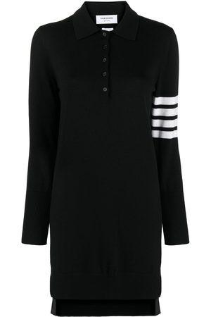 Thom Browne 4-Bar stripe polo dress