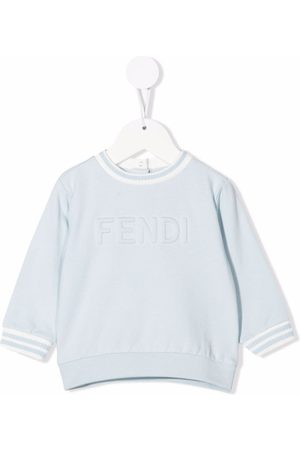 Fendi Hoodies - Embossed logo stretch-cotton sweatshirt