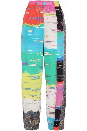 Dolce & Gabbana Women Pants - Abstract-print cropped trousers