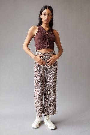 BDG Women Wide Leg Pants - High & Wide Printed Corduroy Pant