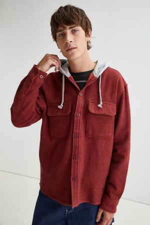 BDG Men Jackets - Twill Hooded Overshirt
