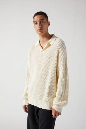 Standard Waffle Stitch Polo Sweater