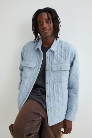 BDG Solid Quilted Shirt Jacket