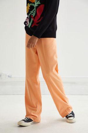Jaded London Men Wide Leg Pants - Peach Flared Pant