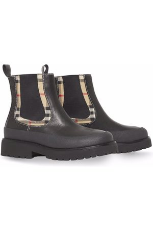 Burberry Girls Ankle Boots - Vintage Check-detail Chelsea boots