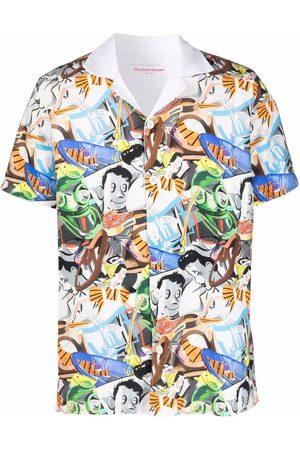 Orlebar Brown Shirts - Diving collage-print shirt