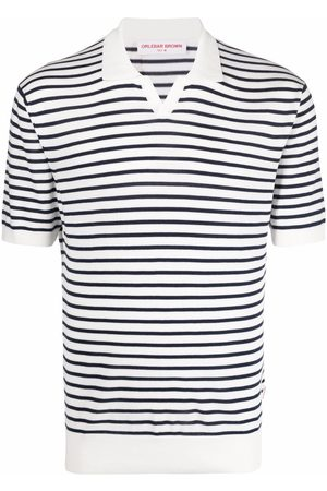 Orlebar Brown Polo Shirts - Striped short-sleeved polo shirt