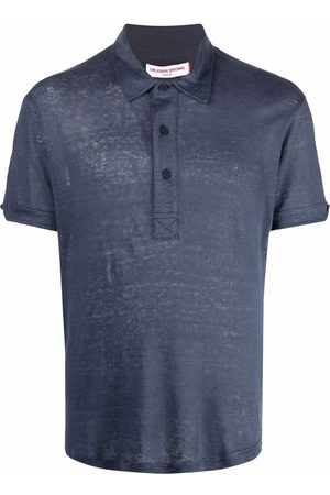 Orlebar Brown Polo Shirts - Short-sleeved linen polo shirt