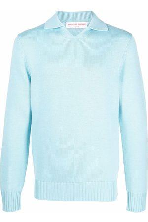 Orlebar Brown Polo Shirts - Knitted long-sleeved polo shirt