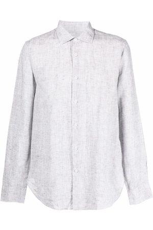 Orlebar Brown Shirts - Button-up linen shirt - Grey