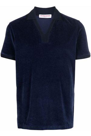 Orlebar Brown Terry-cloth V-neck polo shirt