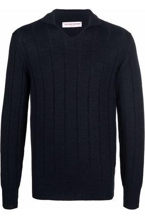 Orlebar Brown Polo Shirts - Ribbed knitted polo shirt