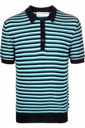 Orlebar Brown Elzack striped-knit polo shirt