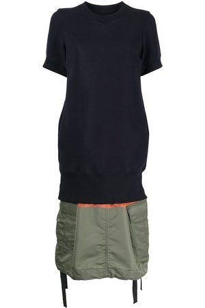 SACAI Women Casual Dresses - Short-sleeve panelled jumper dress