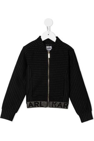 Karl Lagerfeld Waistband-logo bomber jacket