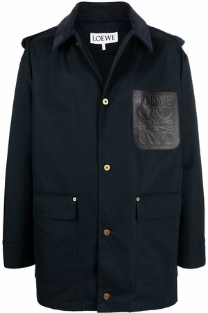 Loewe Men Parkas - Patchpocket hooded parka coat