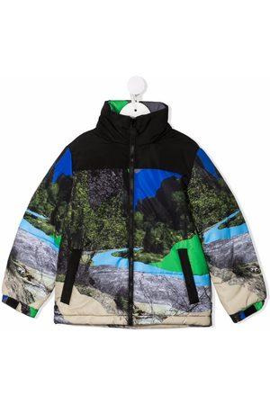 Stella McCartney Puffer Jackets - Graphic-print zip-up coat
