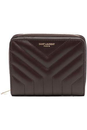 Saint Laurent Chevron-quilted wallet