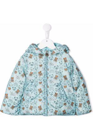 Moschino Fleece Jackets - Teddy Bear-print padded jacket