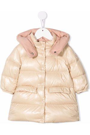 Moncler Logo-patch puffer coat - Neutrals