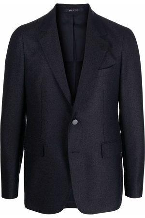 TAGLIATORE Single-breasted cupro blazer