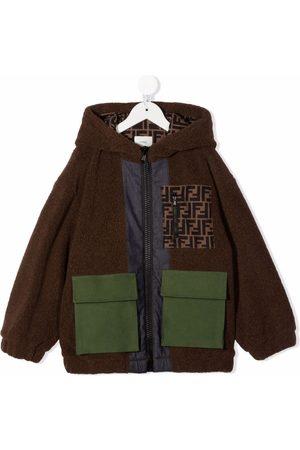 Fendi Boys Bomber Jackets - FF-logo print jacket